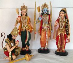 Artefakt produces Papier Mache Costume Dolls depicting Indian Culture in authentic details. Each doll is fashioned after meticulous research into the physical features of the individual character,… Ganpati Bappa Wallpapers, Ram Image, Janmashtami Decoration, Quilling Work, Wedding Doll, Indian Dolls, Girls Together, Mini Craft, Doll Maker