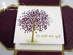 Stampin' Up! Baum der Freundschaft, Sheltered Tree, Prägeform Herzen, Embossing Folder Happy Hearts, Framelits Hearts, Envelope Punch Board