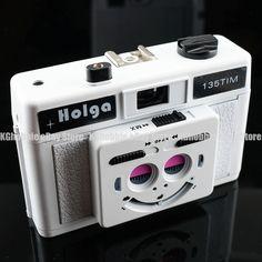 Holga Lomo 135TIM 135 TIM 3D Half Frame Twin Lens 35mm Film Camera Lomo White