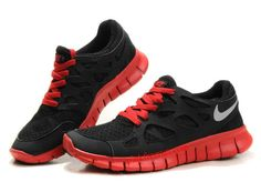 outlet store d3d93 5dceb Nike Free Run 2 Mens Black Silver Red Sneakers Best Nike Running Shoes,  Free Running