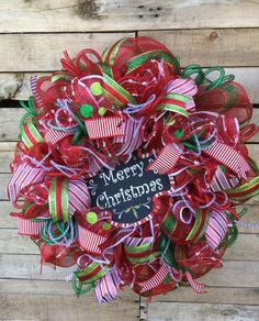 Christmas Wreath, Door Wreath, Decorative Wreath, Christmas Door Wreath, Christmas Deco Mesh Wreath, Merry Christmas Wreath, Holiday Wreath, Christmas Decor