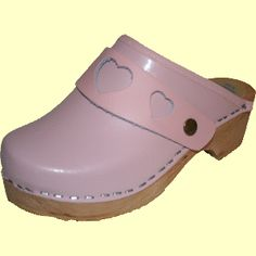 Pink Heart, Snap Strap with your choice of Strap, Tessa Clog