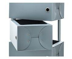 Scarpiera con 10 cassetti Fluida grigio scuro - 41x168x26 cm