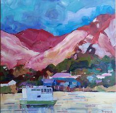 Dusk on the Northern Wairoa 76cm x 76cm www.paulinegough.com Medium Art, Mixed Media Art, Dusk, Painting, Painting Art, Paintings, Mixed Media, Drawings