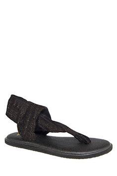 eddff141f Sanuk Womens Yoga Sling 2 Metallic Sandal Gold Size Lightweight