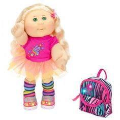 """Cabbage Patch Twinkle Toes Kid with Backpack - Blonde with Green Eyes - Jakks Pacific - Toys""""R""""Us Beanie Babies, Cabbage Patch Kids Dolls, Barbie, Asian Doll, Niece And Nephew, Kids Store, Soft Sculpture, Jack Skellington, New Toys"""