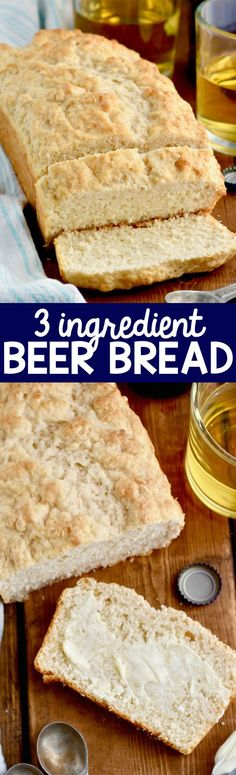 This Three Ingredient Beer Bread could not be more simple or delicious!