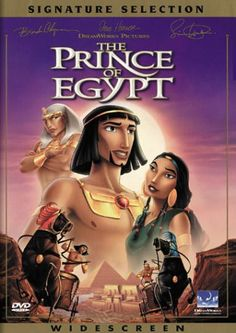 Directed by Brenda Chapman, Steve Hickner, Simon Wells.  With Val Kilmer, Ralph Fiennes, Michelle Pfeiffer, Sandra Bullock. An Egyptian prince learns of his identity as a Hebrew and, later his destiny to become the chosen deliverer of his people.