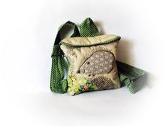 kid backpack toddler backpack with hedgehog  l in beige by Crearts, $33.00