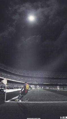 Lionel Messi, corner in Camp Nou Messi Soccer, Messi 10, Football Celebrations, Fc Barcelona Wallpapers, Cristino Ronaldo, Lionel Messi Wallpapers, Fcb Barcelona, Good Soccer Players, Football Players
