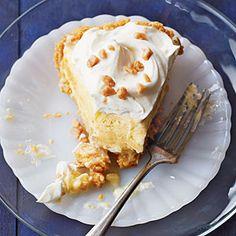 #GlutenFree Double-Banana Cream Pie | MyRecipes.com