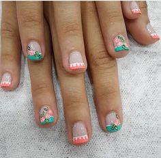 Short Nails Art, Get Nails, Cute Nail Designs, Beautiful Nail Art, Triangles, Pretty Nails, You Nailed It, Finger, Hair Beauty