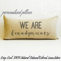 grandparent gift, grandparent pillow, we are grandparents, personalized, personalized pillow, grandparent, grandparent announcement, pillow by LoveYouMoreBoutique on Etsy