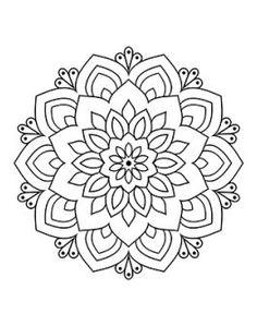 Mandala Art Lesson, Mandala Drawing, Mandala Painting, Mandala Coloring Pages, Coloring Book Pages, Pattern Coloring Pages, Coloring Sheets, Art Quilling, Mandala Pattern