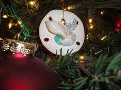 Sand dollar ornament from Hawaii.