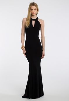 Keyhole Neck Crepe Dress from Camille La Vie and Group USA