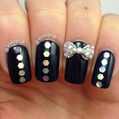 black glitter & bow :)