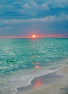 Amazing sunset in Maldives.