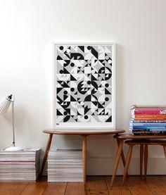 Bold & Noble Stronger screen print in monochrome