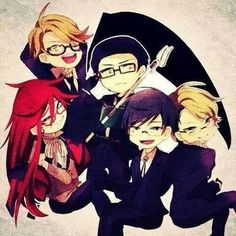 Black Butler [ Ronald Knox, William T. Spears, Grell Sutcliff, Alan Humphries, Eric Slingby. The black butler Grim Reapers | SHINIGAMI |