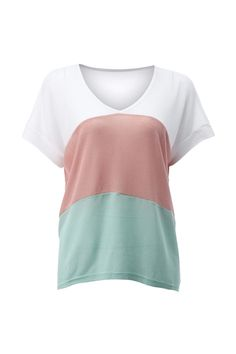 Color Block Knitted T-shirt