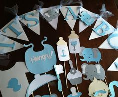 elephants baby shower Photo booth props  with by flutterbugfrenzy