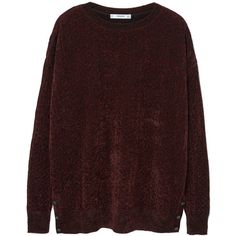 Velvet Sweater ($49) ❤ liked on Polyvore featuring tops, sweaters, red top, long sleeve sweater, red sweater, velvet sweater and mango tops