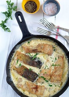 Seafood Dishes, Fish And Seafood, Kitchen Recipes, Cooking Recipes, Skillet Cooking, Good Food, Yummy Food, Polish Recipes, Christmas Cooking