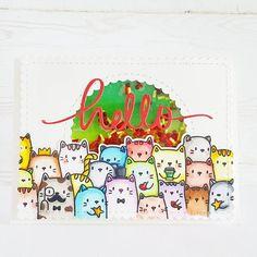 Seungeun Lee's craft room: Mama Elephant 'The cat's meow stamp set'
