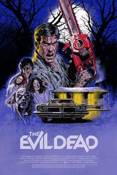 """redskullspage: """"The Evil Dead poster by Paul Mann """" Best Horror Movies, Classic Horror Movies, Scary Movies, Awesome Movies, Comedy Movies, Best Movie Posters, Movie Poster Art, Horror Movie Posters, Cinema Posters"""