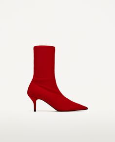 FABRIC HIGH HEEL ANKLE BOOTS - Available in more colours
