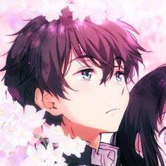 Cute Anime Pics, Cute Anime Boy, Anime Art Girl, Anime Guys, Cute Anime Coupes, Hyouka, Anime Love Couple, Best Anime Couples, Anime Best Friends