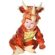 Our Infant triceratops outfit is the perfect Baby Dinosaur Costume. If you are looking for a slightly bigger size you may want to try one of our Toddler Dinosaur Costumes. - Light plush fully screen p