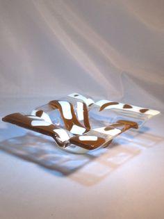 "Glass Ashtray - 5.75"" square http://www.glassbyhelen.com"