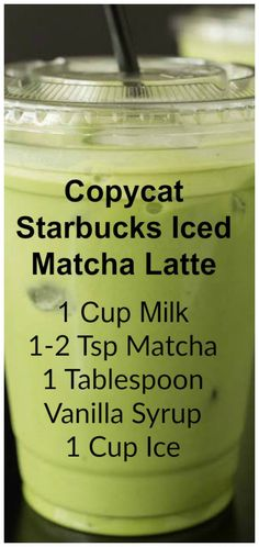 Copycat Starbucks Iced Matcha #latte ~ This copycat recipe shows you how to make your own Starbucks Iced Matcha Latte at home with just three ingredients.
