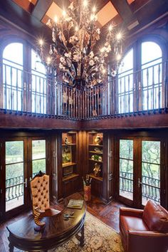 Spanish Oaks Hacienda - traditional - home office - austin - JAUREGUI Architecture Interiors Construction