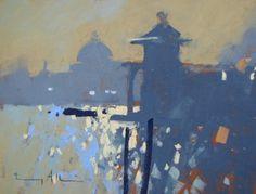 """Tony Allain - """"Contre jour, Venice"""" pastel"""