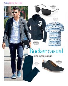 Copia el outfit Joe Jonas. #ILOVEPS #PriceShoes #men #look #casual #outfit #style #fashion