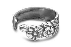 Silver Spoon Adjustable Ring - Sarah