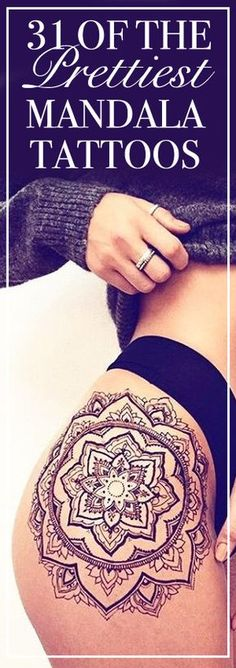 Get inspired by these gorgeous mandala tattoo ideas.