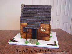 camp cake, hunt cabin, cabin cake, specialti cake, hunting cabin