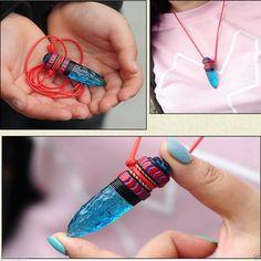 Anime Cosplay Princess Mononoke Hime Amulet Blue Wolf Fangs Necklace Pendant | eBay