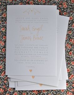 Letterpress wedding invitation - letterpressing is really in right now.