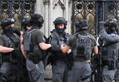 British counter terrorism specialist firearms officers respond to the terrorist incident that took place outside of Westminster, London, United Kingdom on March 22 2017.