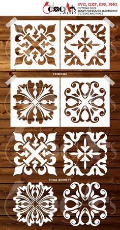 Stencil Templates, Stencil Designs, Thermocol Craft, Cnc, Christian Artwork, Carving Designs, Stencil Painting, Pattern Design, Tile Design
