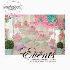 Pelamin buaian berendoi theme simple and sweet buaian for Baby palna decoration