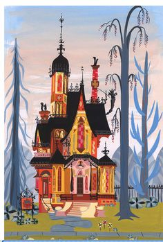 So love this show, the design (especially the house and the backgrounds) are fantastic. Fosters Home for Imaginary Friends concept art by Carol Wyatt