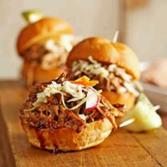 Honey basalmic pulled pork sliders