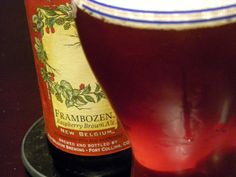 Frambozen Raspberry Brown Ale, a seasonal beer from New Belgium. Take a look at that gorgeous color on the beer.