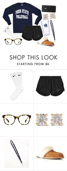 """""""snowed in☃"""" by so-preppy ❤ liked on Polyvore featuring NIKE, Tervis, Warby Parker, Anita Ko, Vineyard Vines, UGG Australia, women's clothing, women's fashion, women and female"""